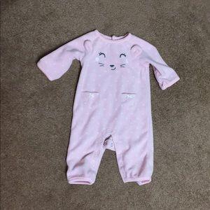 Little Girl Carter's Fleece Baby Onesie Romper